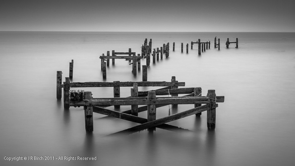 Remains of the old Swanage Pier