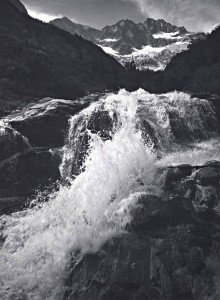 Waterfall, Northern Cascades, Washington, 1960 by Ansel Adams,