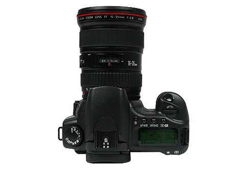 Canon EOS 20D Top