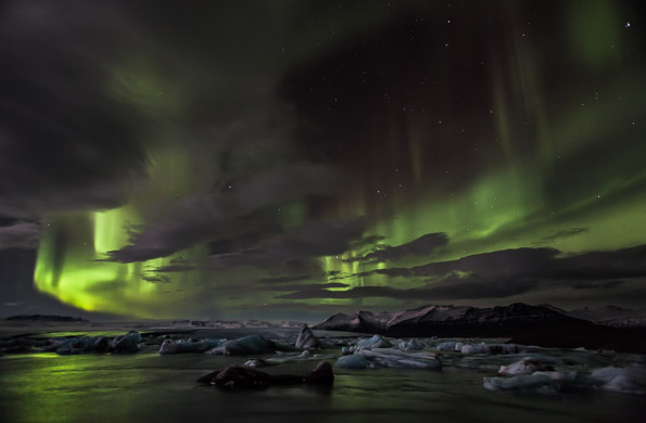 Jokulsarlon Aurora 2