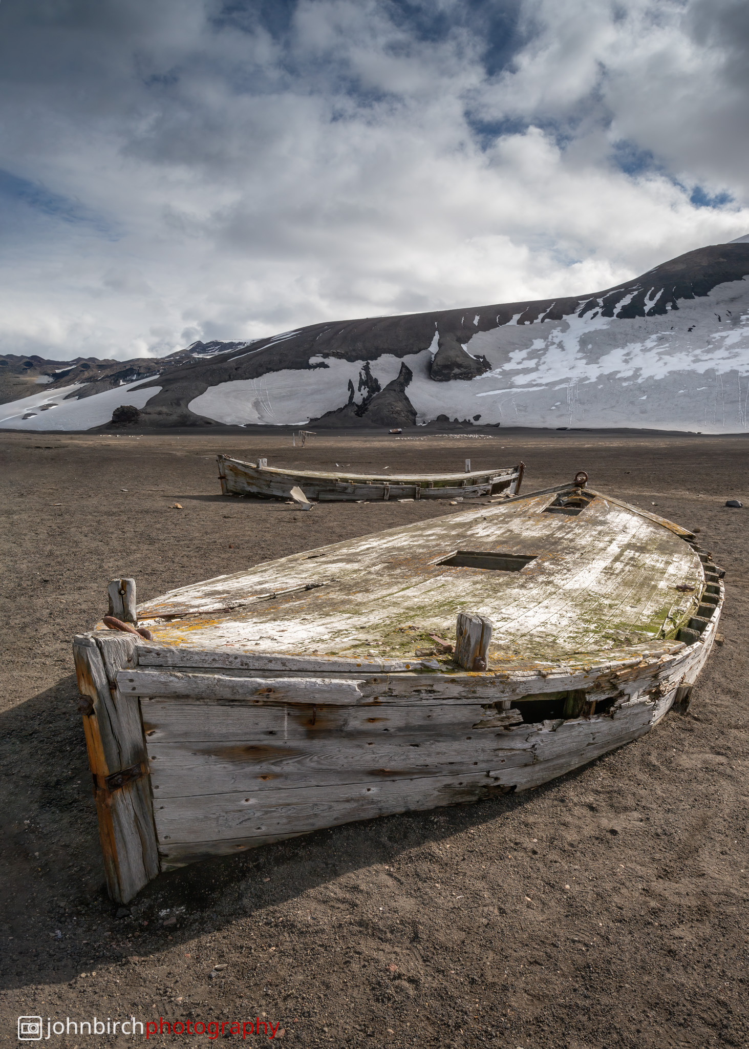 Old Whaler's Boats buried in Ash
